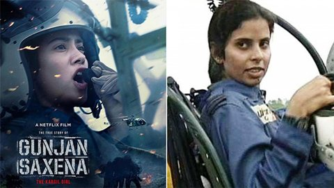 Gunjan Saxena Real Life Story The First Female Pilot Who Combated In Kargil War Starbiz Com