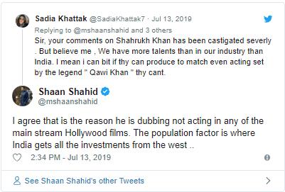 Pak Actor Shaan Shahid slams Shah Rukh Khan for dubbing Lion