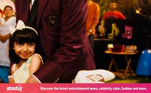 Aaradhya's birthday party: Happy dance with her grandfather